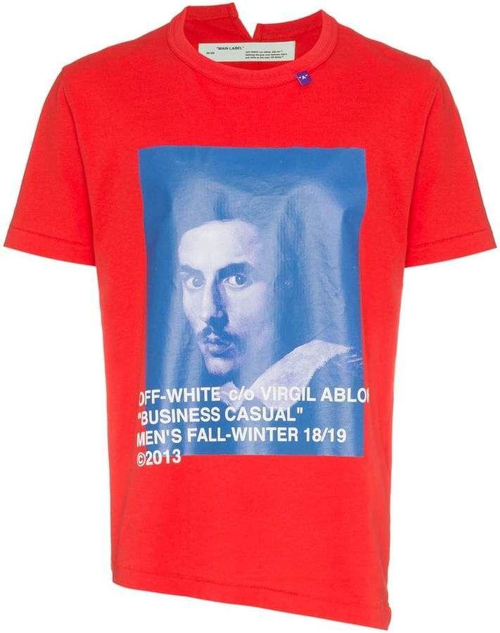 Off White Bernini Print T Shirt Print Off White Printed Shirts