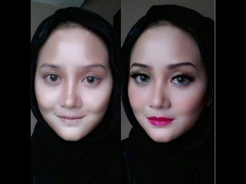 Makeup trick: narrower face (trik wajah lebih lonjong) - YouTube