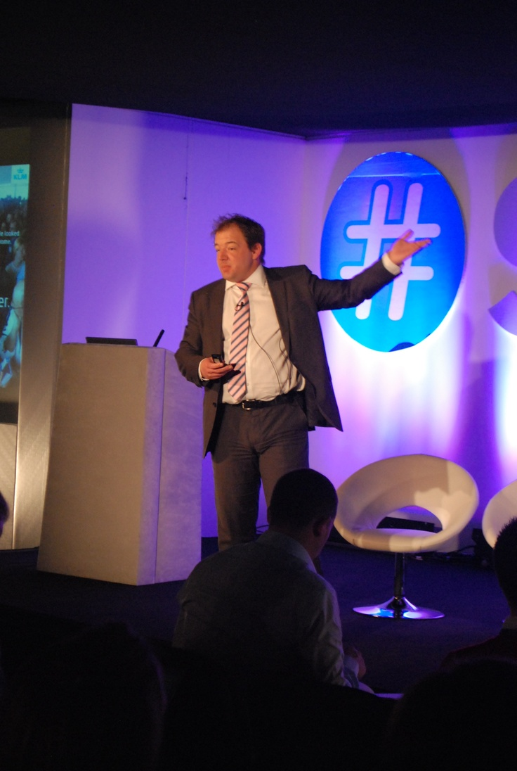 Keynote track:  Gert Wim ter Haar, Social Media Hub Manager, KLM     'On average KLM answers Twitter questions within 23 minutes and have an issue solved within 10 hours'
