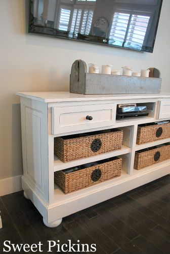 {Office Cabinet to TV Console} – before & after | Sweet Pickins Furniture