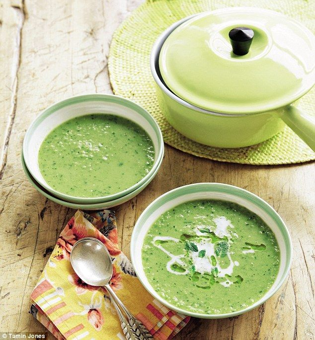 Fearne Cotton: Pea, broad bean and mint soup