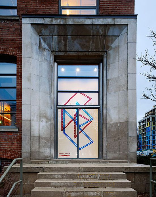 Assembly Required installation by Roland Ulfig at the Stantec Window Gallery in Toronto Ontario.