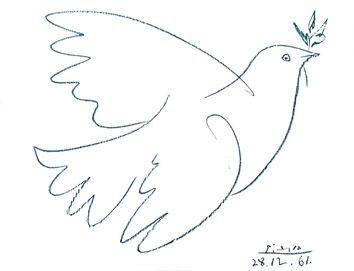 Pablo Picasso - Colombe de la Paix, 1961.
