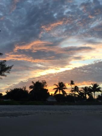 Sunrise as we are shelling Sanibel Island's Bowman's Beach, Florida