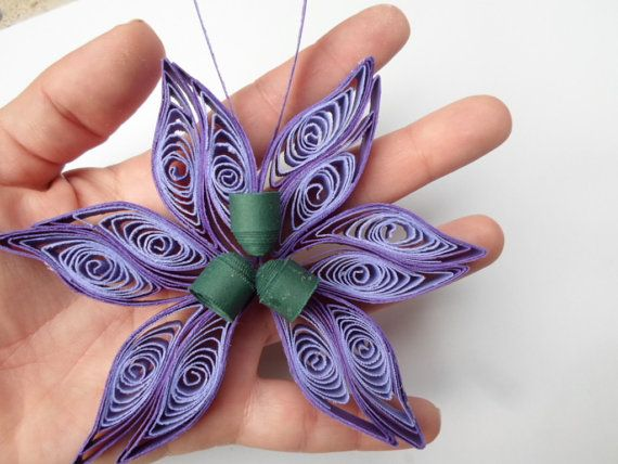 Purple Christmas tree ornament Paper by GeorgianaArtAndStyle