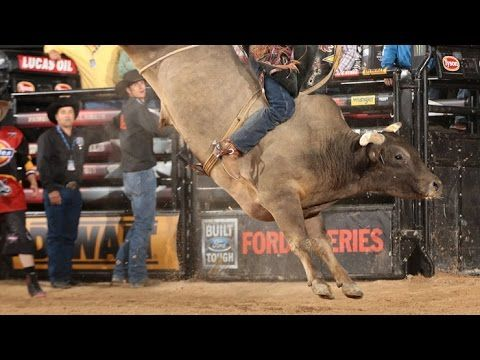 TOP BULL: Long John gets a 47.25 bull score - Published on Oct 25, 2015  Long John bucks off Fabiano Vieira for a 47.25 point bull score in the Championship Round of the 2015 PBR BFTS World Finals in Las Vegas, NV. Long John wins World Champion Bull title this year.