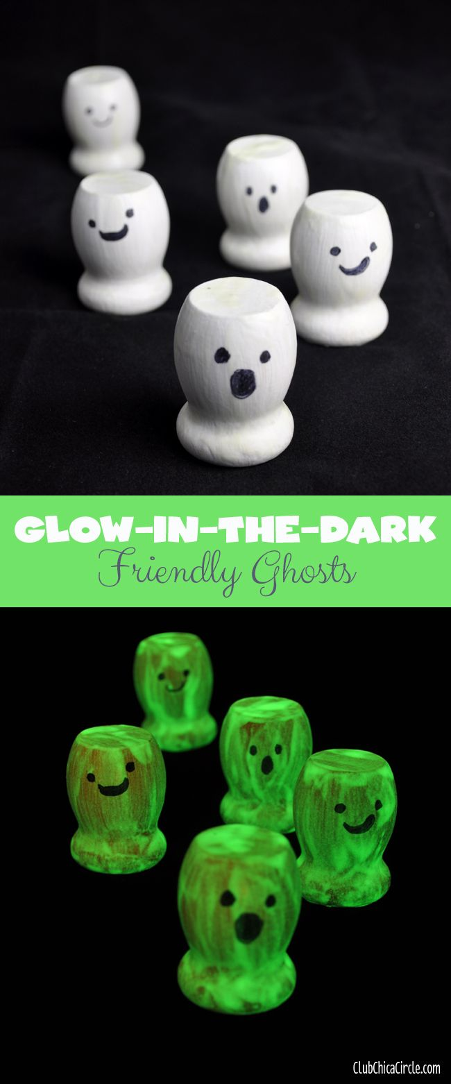 add cute faces with permanent marker super easy and cute halloween craft for kids - Cute Halloween Crafts