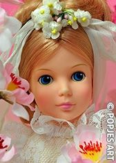 Trouwkaart Bruid - Popjes Art - € 1,00 - Prachtige bruidspop, leuk voor felicitatie met verloving of bruiloft. -