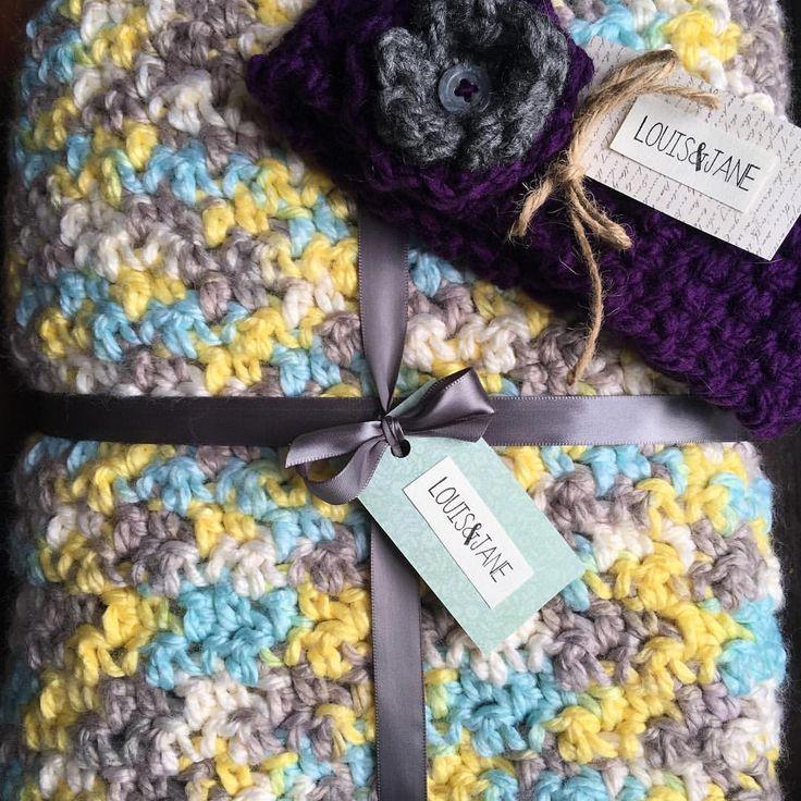 Baby blanket, crochet baby blanket, gift, crochet headband