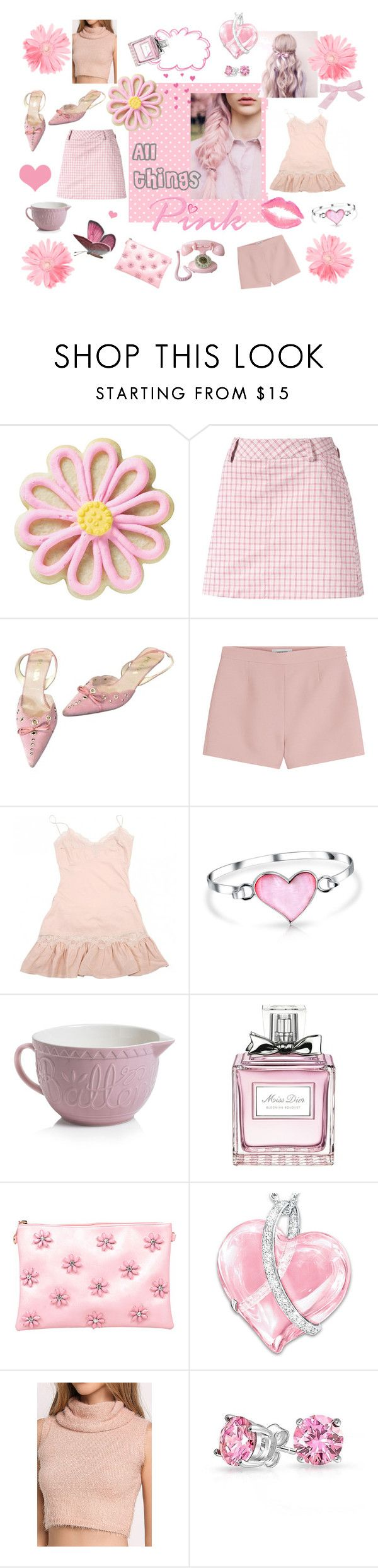 """All things Pink"" by myfashionvault on Polyvore featuring Wilton, Puma, Prada, Valentino, Manoush, Bling Jewelry, Mason Cash, Christian Dior, Vieta and The Bradford Exchange"