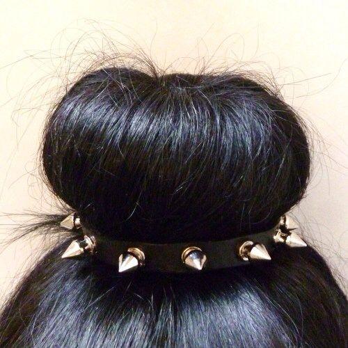edgy hair bun