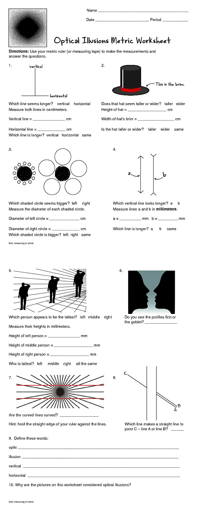 Worksheets Optical Illusion Worksheets 17 best ideas about optical illusions for kids on pinterest op art oleg shuplyak and necker cube