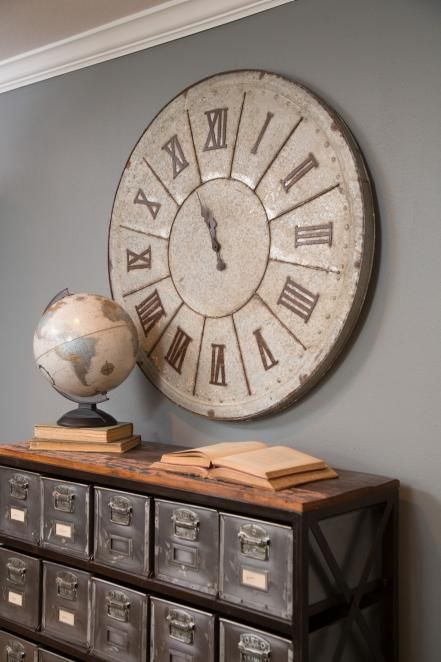 Large Clock In Foyer : Best ideas about big clocks on pinterest stair wall