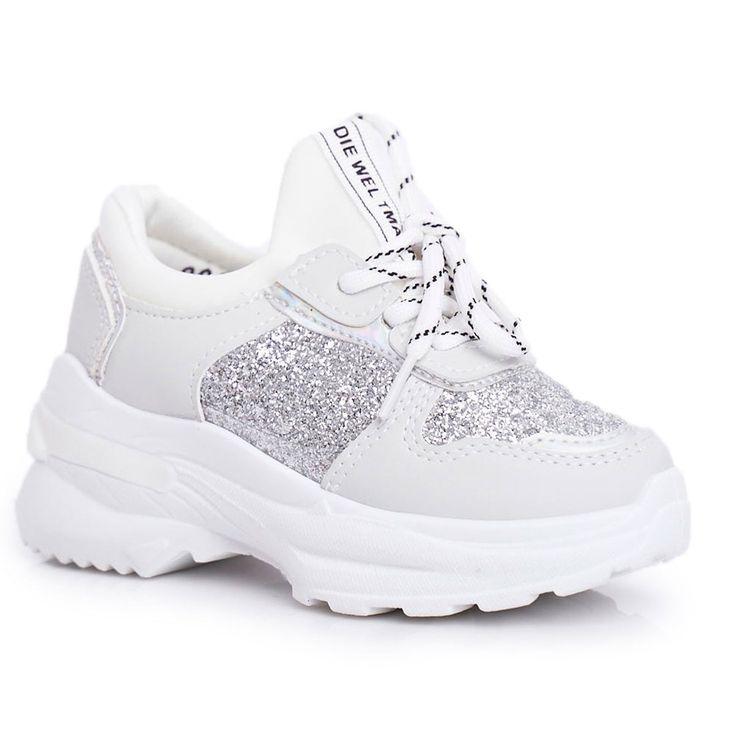 Frrock Obuwie Sportowe Dzieciece Z Brokatem Srebrne Matylda In 2020 Sneakers Nike Nike Huarache Shoes
