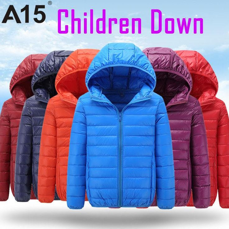 Hot High Quality Winter Child Boy Down Jacket Parka Big Girl Thin Warm Coat 13 14 15 Year Light Hooded Outerwears