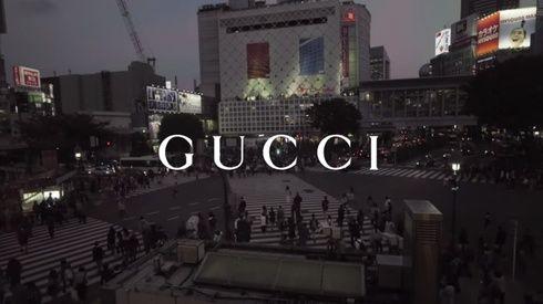 「グッチ」が渋谷スクランブル交差点をジャック! 旬のインフルエンサーたちが集結