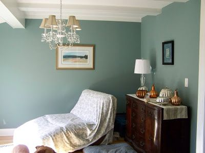 Farrow and Ball Oval Room blue -- paint for my office.