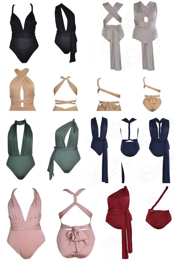 New Ladies Women Multiway Anyway Slinky Bodysuit Leotard UK Size 6 8 10 12 14   eBay