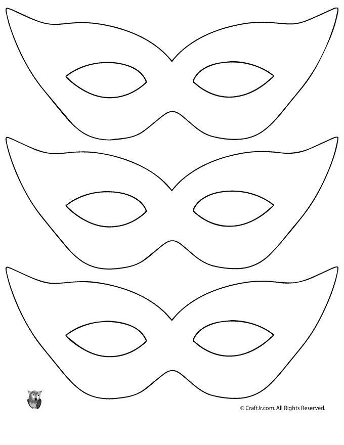 Mardi Gras Mask Craft {and Template} Printable Masquerade Mask Pattern Template – Craft Jr.