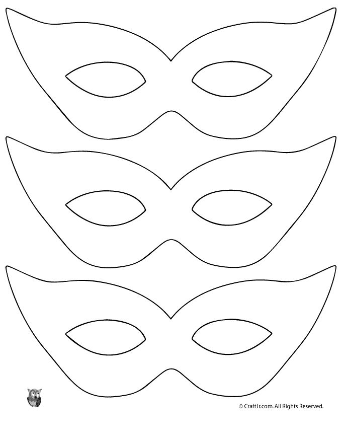 Mardi Gras Mask Craft {and Template} Printable Masquerade Mask Pattern Template – Craft Jr.
