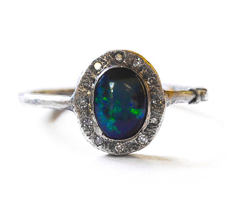 Dream ring! Australian opal. Vintage. Stunning. Love it!