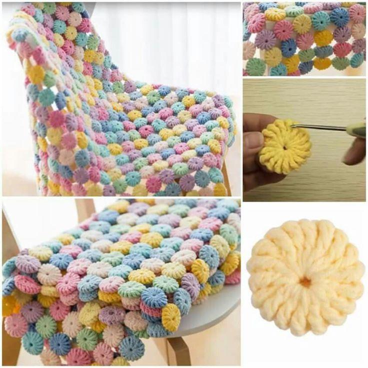 133 best crocheting images on Pinterest   Mantas de ganchillo ...