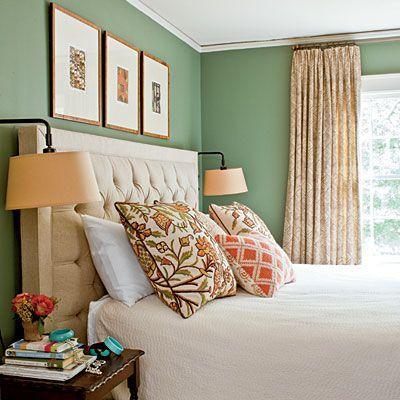 green bedroom design idea 25