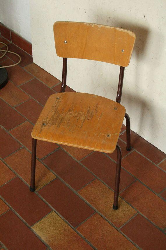 Childs industriële stijl school stoel 2