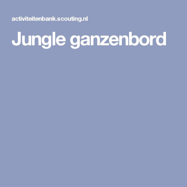 Jungle ganzenbord