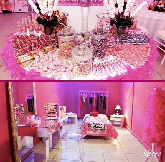 Festa com o tema Barbie DECORA??O Pinterest Barbie