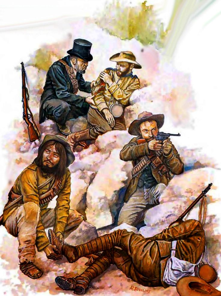 Boer Commandos skirmishing in the Transvaal, Anglo-Boer War