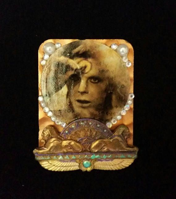 David Bowie Egyptian Brooch  handcrafted one of a kind