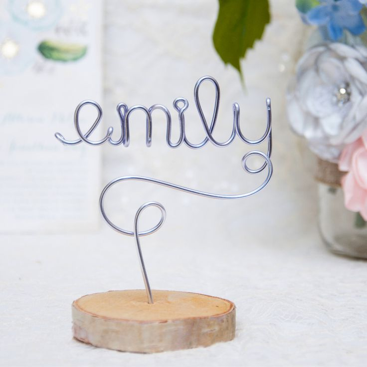 silver heart wedding place card holders%0A Wow your guest with these wood and wire place cards  They double as favors