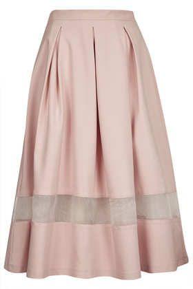 Pink Organza Insert Calf Skirt