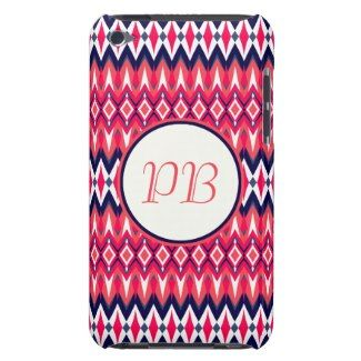 Elegant tribal rhombus native pattern duogram barely there iPod cases #tribal #rhombus #pink #duogram #pattern #native #girly #stylish #sassy #classy #gift