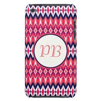 Elegant tribal rhombus native pattern duogram barely there iPod cases #tribal #rhombus #pink #duogram #pattern #native #girly #stylish #sassy #classy #gift