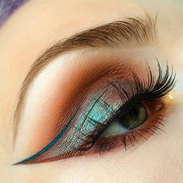 Unique makeup look.