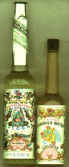Both Florida Water and Kananga Water are widely used in rituals of home protection and spiritual cleaning, to scent bowls of water set out for the spirits of the dead, as a basis for making an ink-dyed scrying water, and for other ritual and cosmetic purposes among people of African-diaspora descent in the United States and the Caribbean.