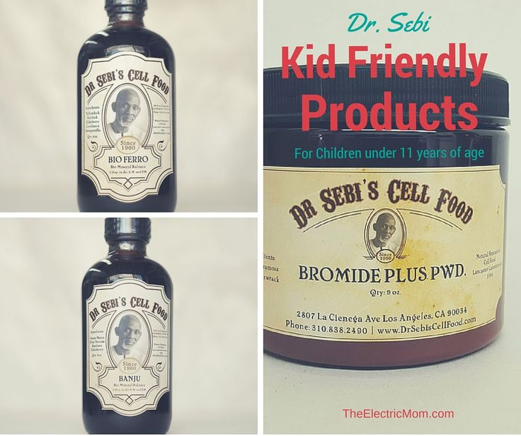 Dr. Sebi Kid Friendly Products (under 11 years of age)