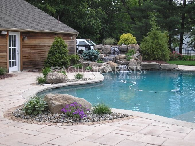 Boulders Around Pool Prepossessing L Like Accent Boulders And Small Plants Around Pool Outdoor