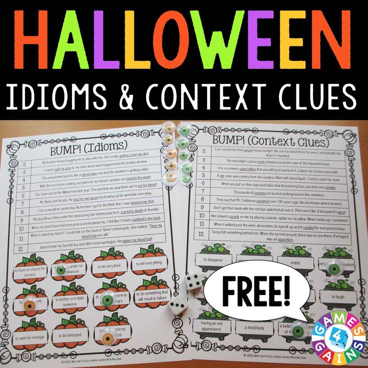 These FREE Halloween games make practicing and reviewing idioms and context clues fun. Learn how to play so that you can start using them in your reading centers tomorrow!