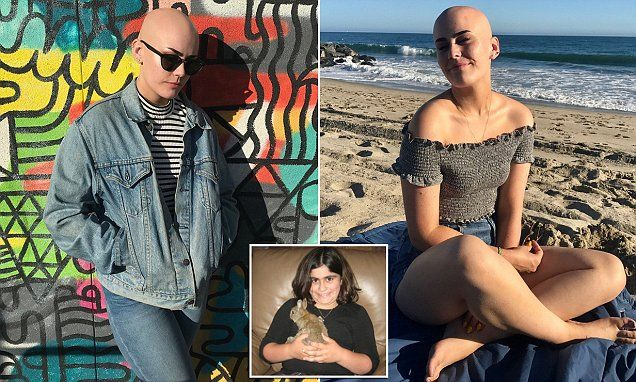 Sarah Rose Meyers, 17, from Los Angeles, began losing her hair at just 12, when she developed a bald patch in between her pigtails, and was later diagnosed with alopecia universalis.