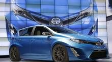 In this Wednesday, Nov. 19, 2014, file photo, the Scion iM concept is unveiled at the Los Angeles Auto Show. Toyota announced Wednesday, Feb. 3, 2016, that it is discontinuing its Scion brand, aimed at younger car buyers, after years of slumping sales. Beginning in August the MY17 Scion, the FR-S sports car, iA sedan, the iM 5-door hatchback and the C-HR will be rolled into the standard Toyota line-up. Scion owners can still visit Toyota service departments for maintenance and repairs. (Jae…