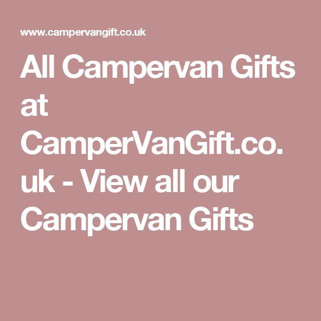 All Campervan Gifts at CamperVanGift.co.uk - View all our Campervan Gifts