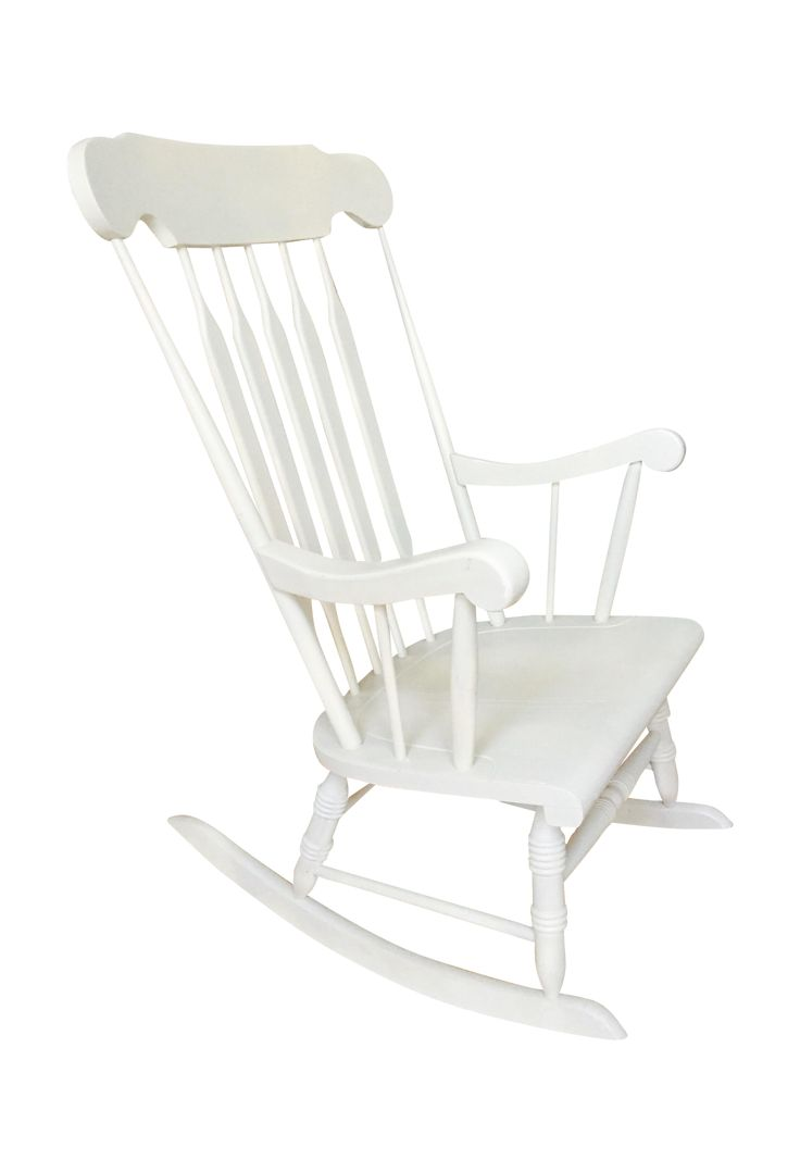 Set of armchairs and rocking chairs just out from beneath the shelter - Klaussner Custom Upholstered Rocking Chair