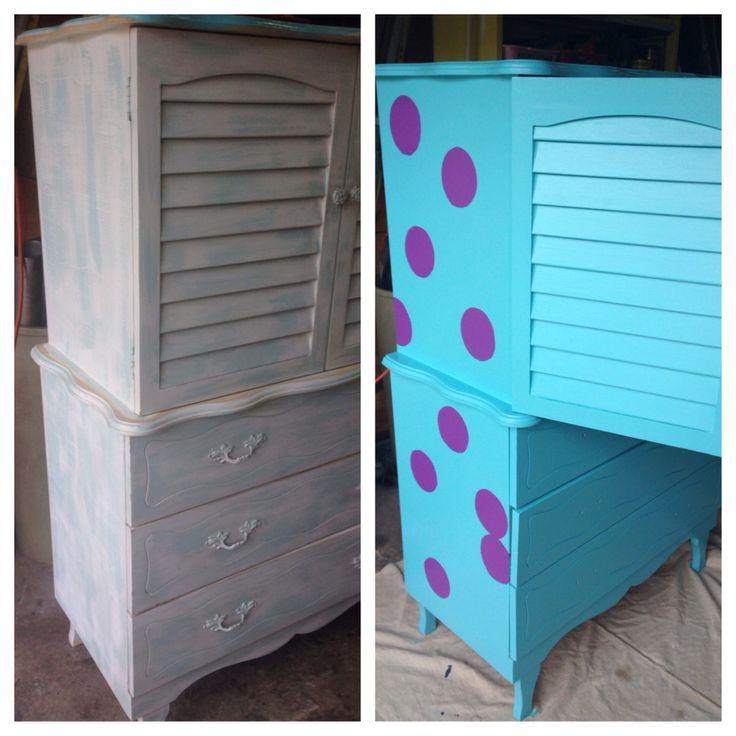 Made A Sully Inspired Dresser For A Monsters Inc Themed Nursery :)
