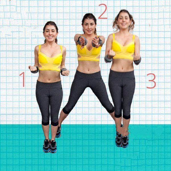 Compass Jumping Jacks - Best Exercises To Lose Underarm Fat In 7 Days