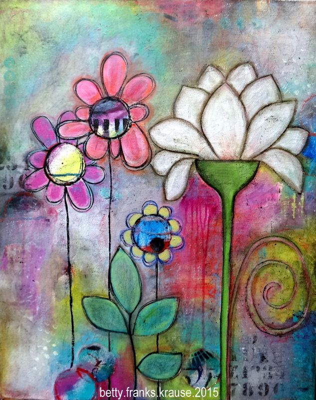 """""""When Love Flows"""" - 24x30x1"""" canvas (sold) - mixed media"""