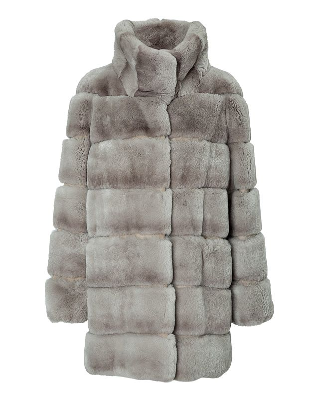 Rendered in exquisitely soft rabbit fur, this quilted-effect coat from Yves Salomon radiates contemporary-luxe #Stylebop