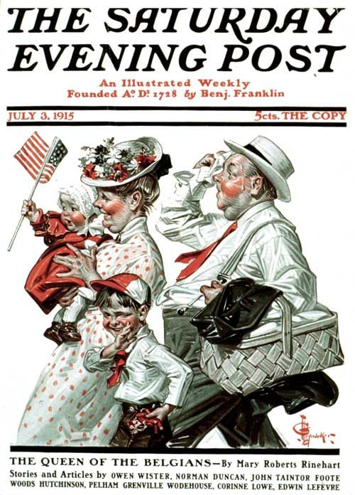 Fourth of July Picnic >1915 and 5cents a copy!!: July Picnics, Comic Book, Saturday Evening Posts, Picnics 1915, Jc Leyendeck